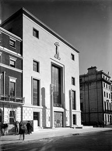 66 Portland Place, London. The main elevation; 1934, Dell and Wainwright. Credit: RIBA Library Photographs Collection