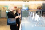 Guests looking at the 3D Model of the World Trade Center complex.