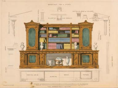 Bookcase for a Study, 1826 by George Smith (1785-1828) © RIBA Collections