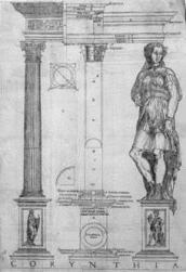 "Image of a Corinthian Order illustrated in John Shute's ""The first and chief groundes of architecture"" 1563 © RIBA Collections"