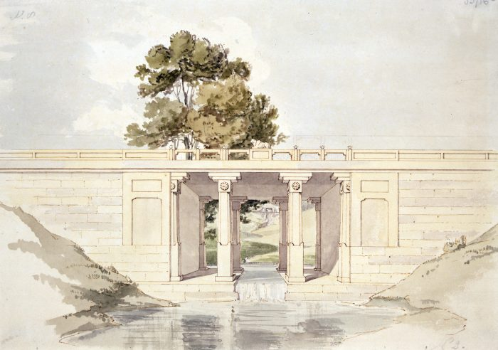 RIBA3951 Design for the Indian Bridge at Sezincote, Moreton-in-Marsh RIBA Collections