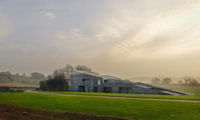 The Flint House at Waddesdon Maner, Rothschild Estate, RIBA House of the Year Award winner 2015