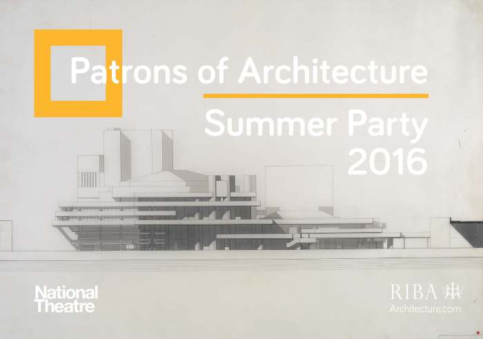 Front of RIBA Patrons Summer Party Invitation 2016