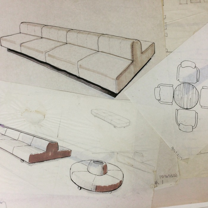 selection-of-sketches-of-furniture-designs-by-robin-day-barbican-arts-centre-london